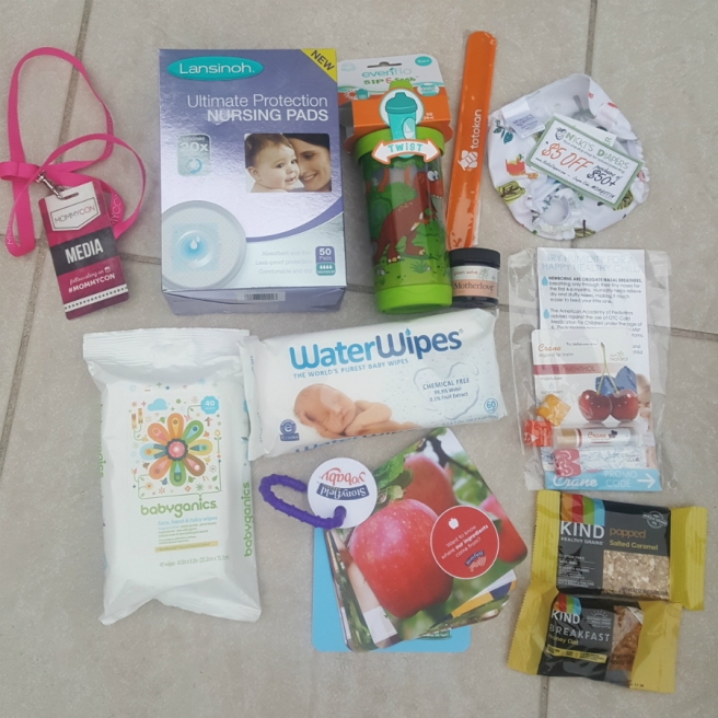 My First MommyCon: media swag bag | sharonisamom.com